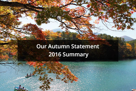 Our Autumn Statement 2016 Summary